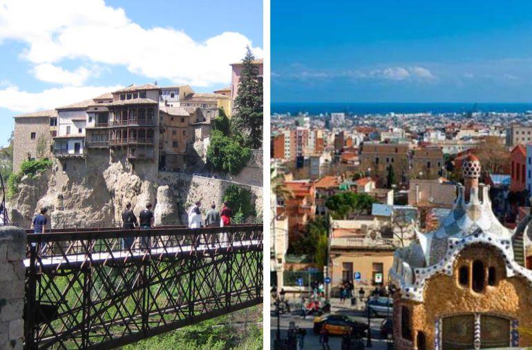 Cuenca y Barcelona.