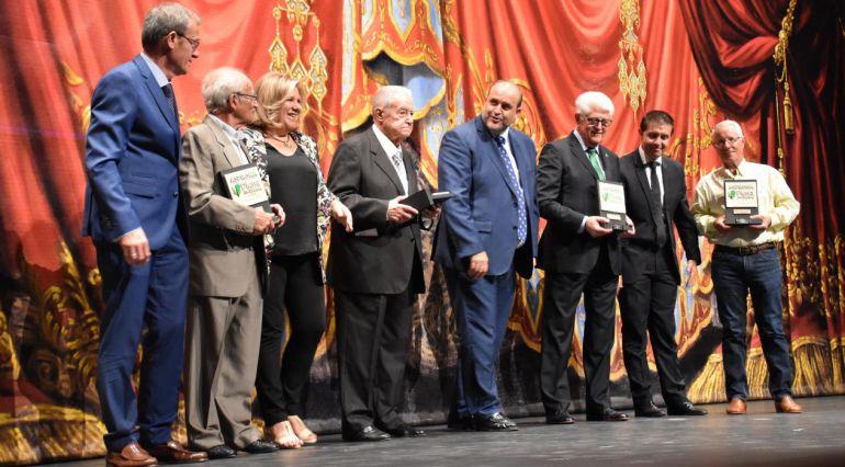 Momento de la gala en la que se ha homenajeado a los ex presidentes de Asprona