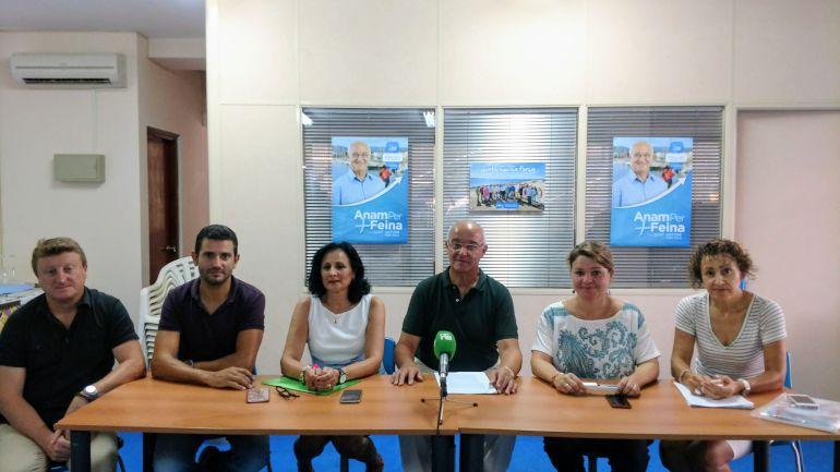 José Sala (en el centro) en una imagen de archivo