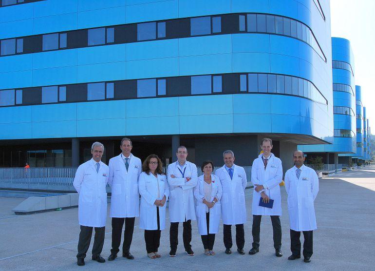 Directivos del Hospital de Braga y del EOXI en la reunión