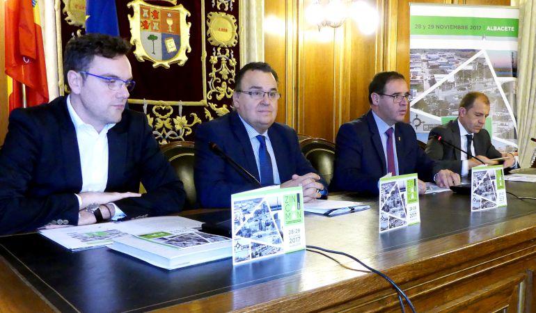 Los responsables de ZINCAMAN, Diputación de Cuenca y CEOE CEPYME