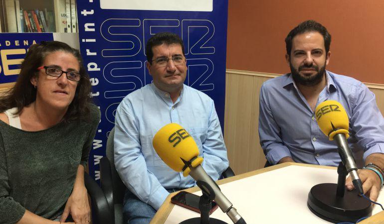 Los representantes de Ganemos Pinto, PSOE y PP