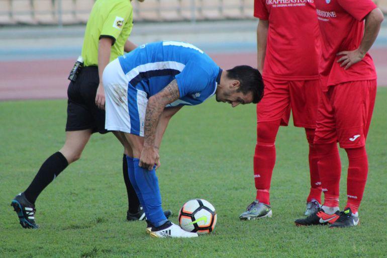 Antonio Bello durante un partido en Chapín