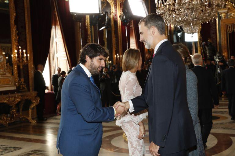 """López Miras: """"Estamos orgullosos de España tal como es, con los rasgos distintivos de cada comunidad"""""""