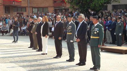 Presencia institucional en el acto de la Virgen del Pilar en la Comandancia de la Guardia Civil de Palencia
