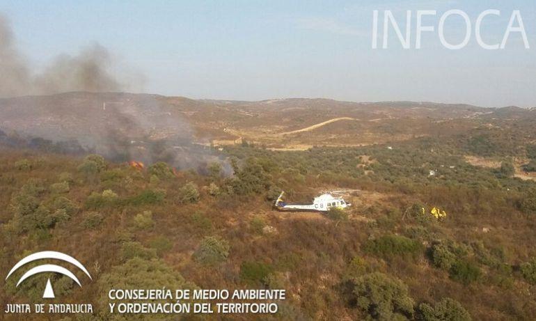 Declarado un incendio forestal en El Ronquillo: Declarado un incendio forestal en El Ronquillo
