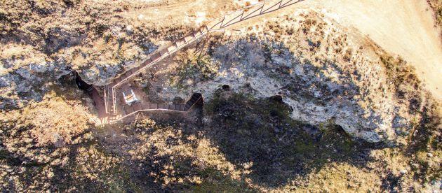 Exterior de la mina de Lapis Specularis de Saceda del Río, en Huete (Cuenca).