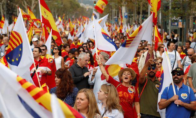 Marcha en Barcelona.