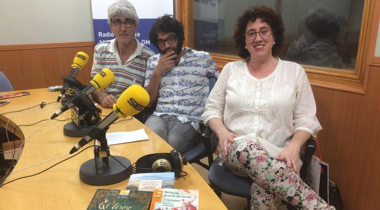 Paco Redondo, Modesto Colorado y Luz del Olmo, en Radio Albacete