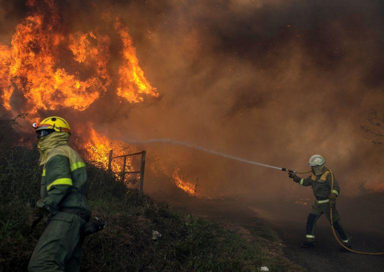 Más de 2.100 hectáreas calcinadas en Lugo y Ourense