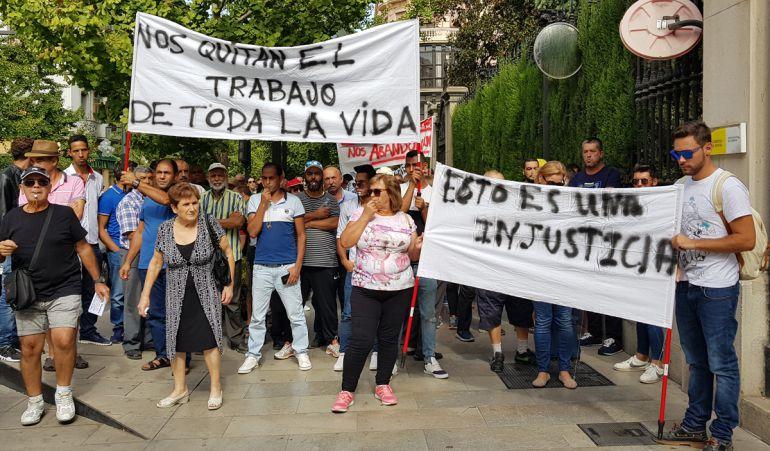 Protesta de los agricultores de La Rábita en Granada