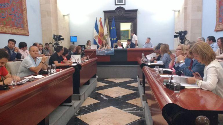 Imagen de una sesión plenaria en el Ayuntamiento de Jerez