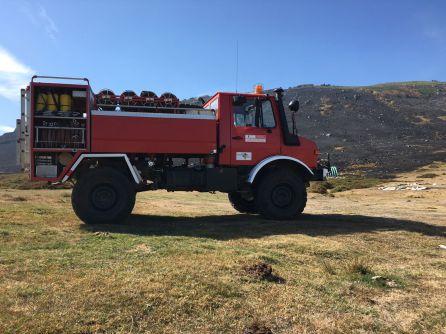 Un incendio provocado en Cantabria afecta ya al municipio palentino de Brañosera