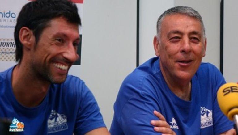 Pepe Vázquez y Miguel Ángel Ortega; imagen del club.