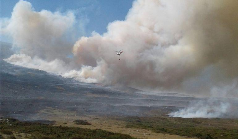 Incendio declarado en la Hermandad de Campoo de Suso.