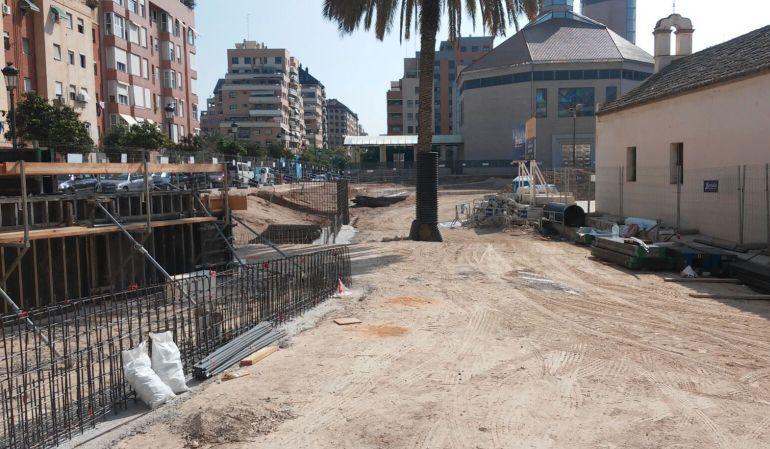 El parque que se está construyendo junto a la ermita de San Jerónimo, en Orriols