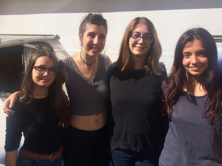 Natalia, Sandra, Patricia y Paula son representantes de colectivos feministas juveniles.