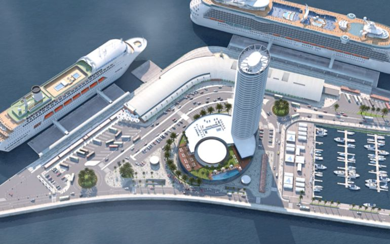La torre del puerto de m laga la junta aprueba por la - Kaiser puerto de la torre ...