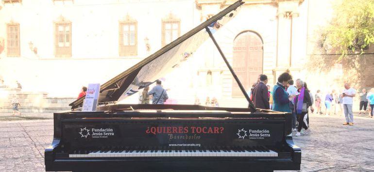 Los pianos de cola han copado varios emplazamientos de las calles del Casco Histórico de Toledo durante todo este viernes