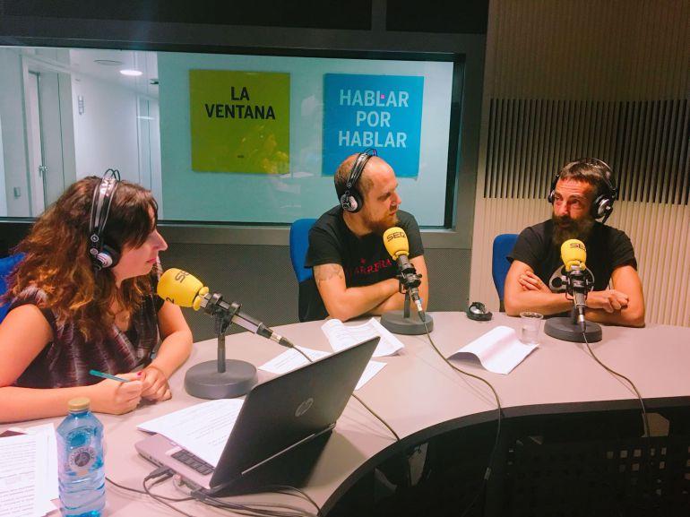 Puri Beltrán, Dani Cabezas y Carmelo López