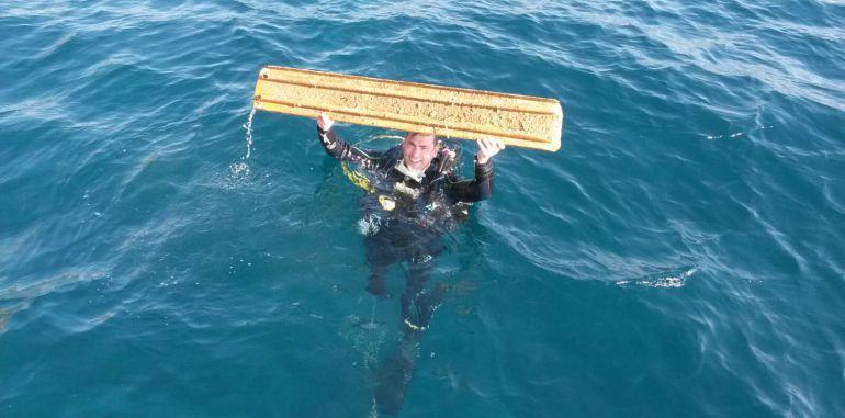 Más de doscientos voluntarios limpian de basura del fondo del mar en en Cabo de Palos y Mazarrón