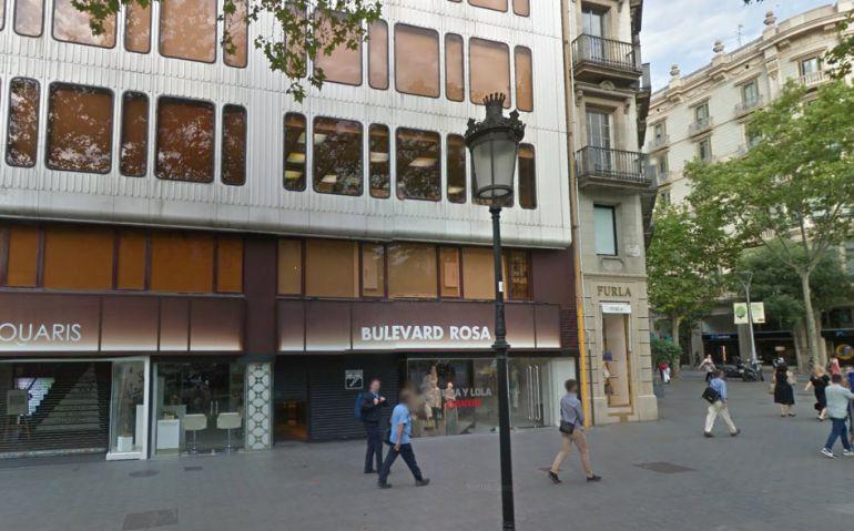 Bulevard Rosa al Passeig de Gràcia de Barcelona