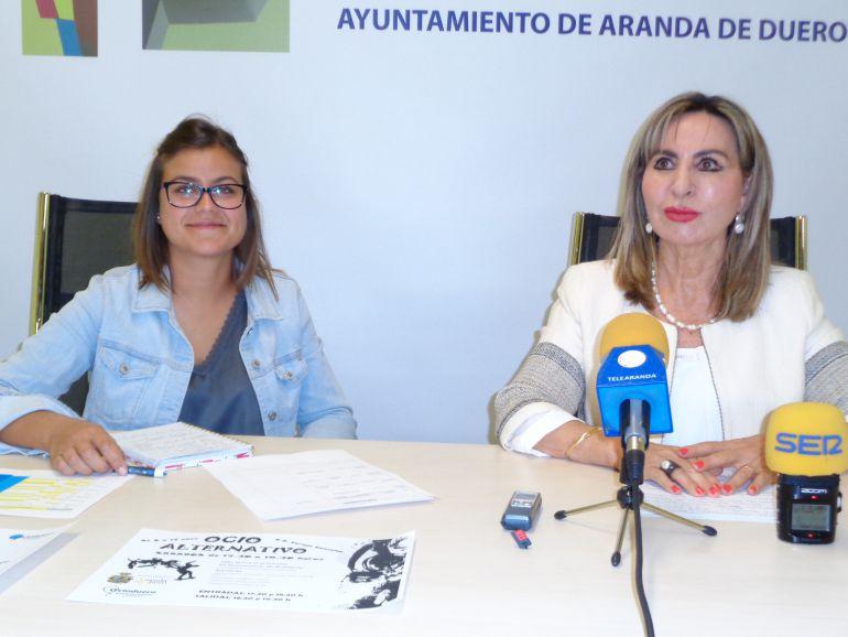 Lidia Martínez, responsanble de Ocio Duero, y Azucena Esteban, Concejal de Cultura