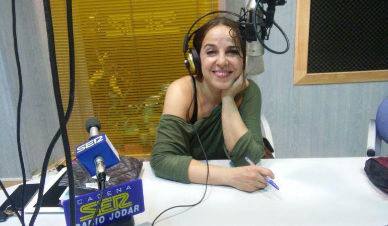 La bailaora Antonia Mula en nuestros estudios, en el momento de la ppresentación del curso de Antonio Canales