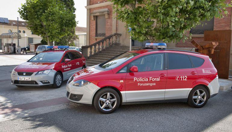 Con la Policía Foral de Navarra