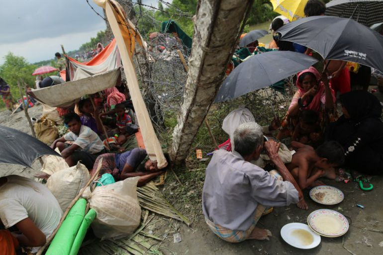 Uno de los campos de refugiados rohingyas en Bangladesh