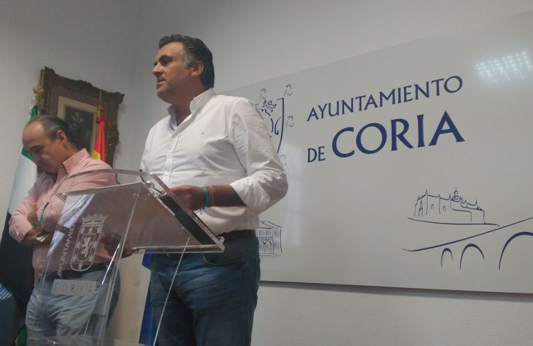 El Alcalde de Coria en una comparecencia reciente