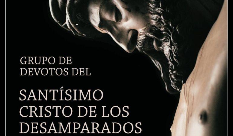 Cartel del grupo de devotos del Cristo de los Desamparados del Santo Ángel
