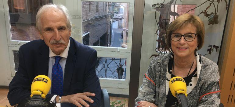 Carmelo Angulo, presidente del Comité Español de Unicef, y Amparo Marzal, presidenta de Unicef Comité Murcia.