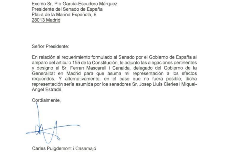 Documento de las alegaciones de la Generalitat.