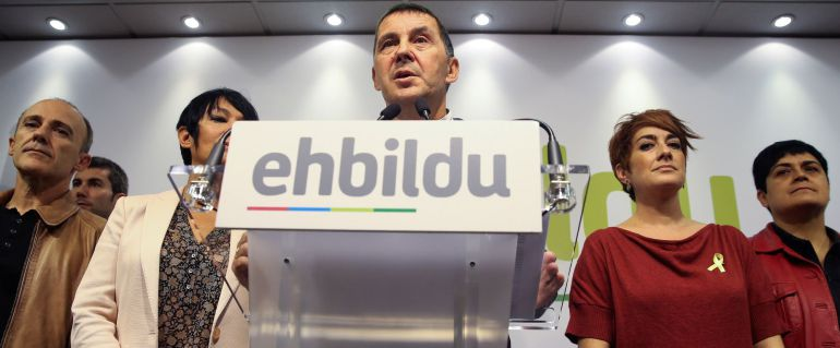 El coordinador general de EH Bildu, Arnaldo Otegi, en una comparecencia reciente