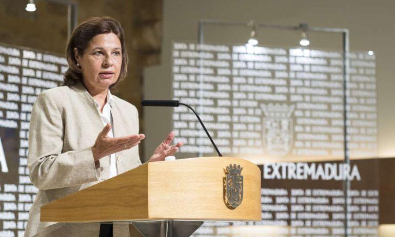 La consejera de Hacienda y Administración Pública de la Junta de Extremadura, Pilar Blanco-Morales