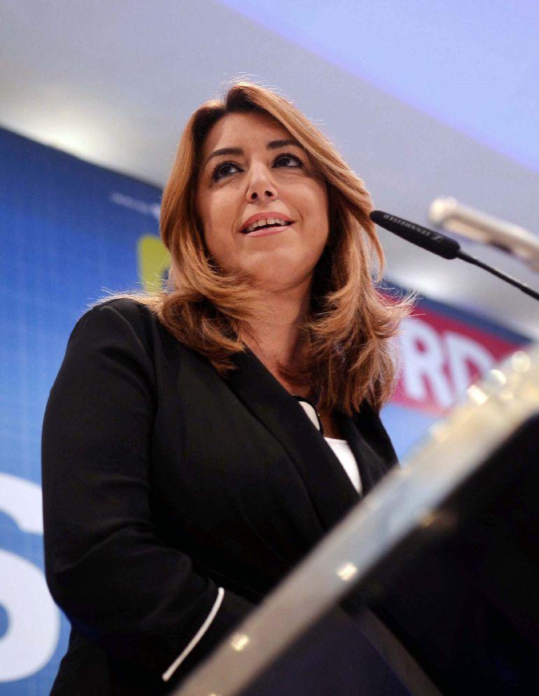 La presidenta de la Junta de Andalucía, Susana Díaz, en un desayuno organizado por el Diario Córdoba en la capital cordobesa. EFE Rafa Alcaide
