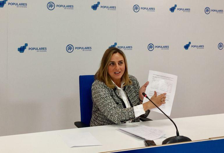 Rueda de prensa de Marifrán Carazo sobre las cuentas de la Alhambra