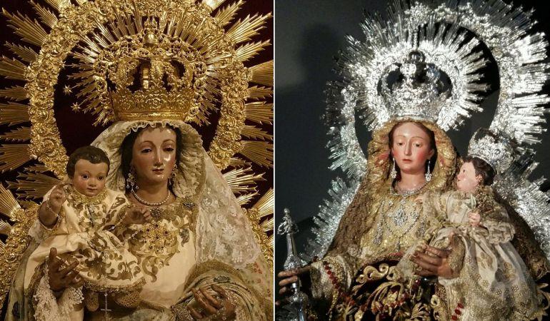 La de Santa Catalina -a la izquierda de la imagen- y la de San Vicente cierran las salidas procesionales de las Virgenes del Rosario en la capital