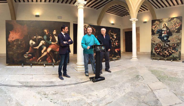 El Palacio de Guevara recupera tres de los cuadros más monumentales de su pinacoteca