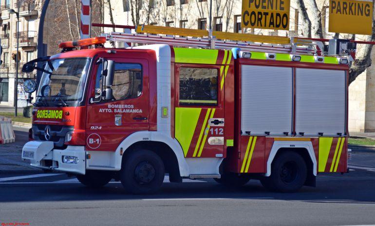 Camión del Servicio de Extinción de Incendios de Salamanca