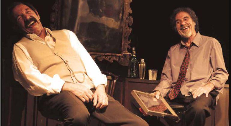 José Antonio Lobato y Manuel Pizarro durante un ensayo