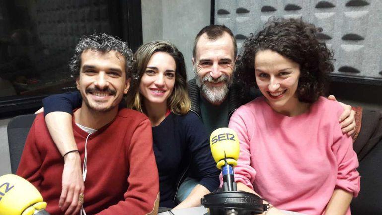De izquierda a derecha: Pablo Rodríguez, Nahia Láiz, Alfonso Mendichuguía y María San Miguel