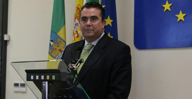 Enrique Moresco, durante un acto público cuando era alcalde de El Puerto