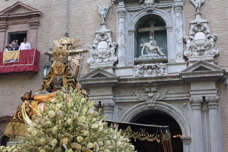 Imagen de archivo de la procesión de la Virgen de las Angustias en Granada