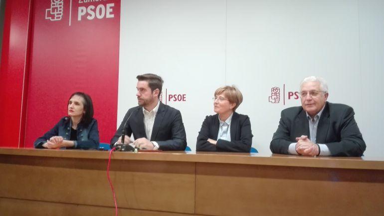 Los concejales socialistas Soraya Merino, Antidio Fagúndez, Adoración Martín y José Carlos Calzada