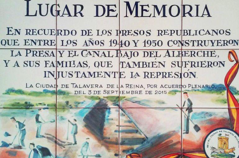 La placa de la discordia que no se podrá instalar en Talavera de la Reina