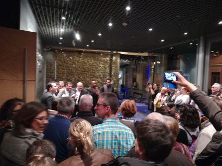 Tras el recital todavía hubo más en el vestíbulo