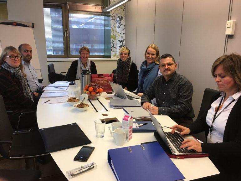 Momento de la reunión de presentación y coordinación celebrada en Bergen.