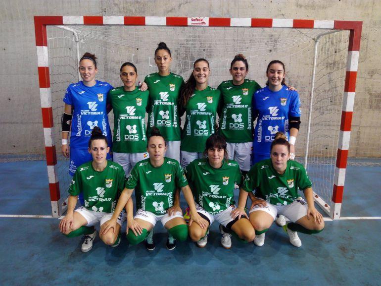Las jugadoras del Guadalcacín posando antes del partido en Cádiz